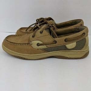 Sperry Top Sider Bluefish Boat Shoes Linen Oat 7